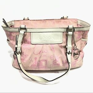 Coach Carriage Horse Pink Gallery Tote
